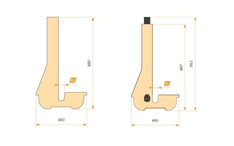 Escuadra para paneles de PVC / PP