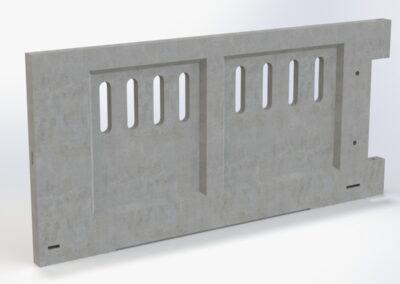 Frontal ventilado para puerta de hormigón
