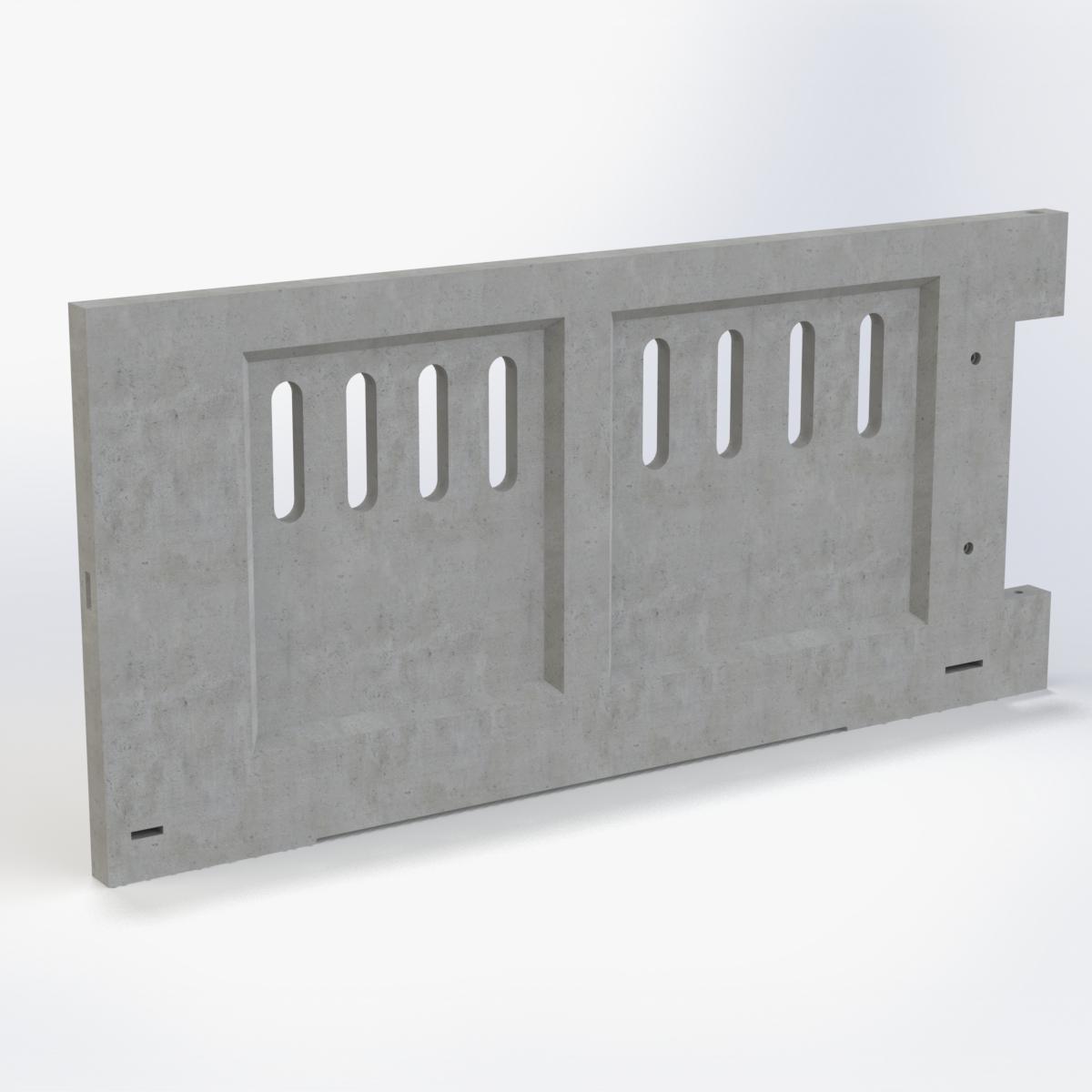 Frontal ventilado puerta hormigón