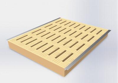 Reja de polímero para destete